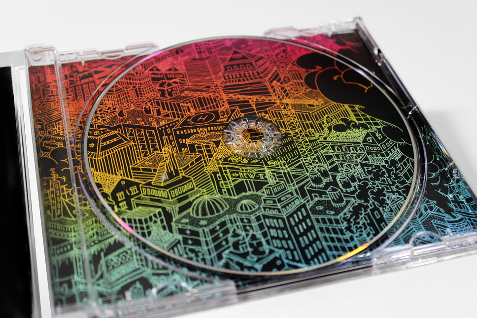 — CD fits in seamlessly with inlay illustration