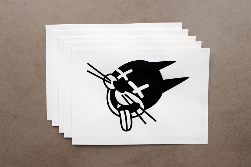 — fig. 03: Dead Cat Black Edition, 5 prints, #signed white paper, 30x21cm