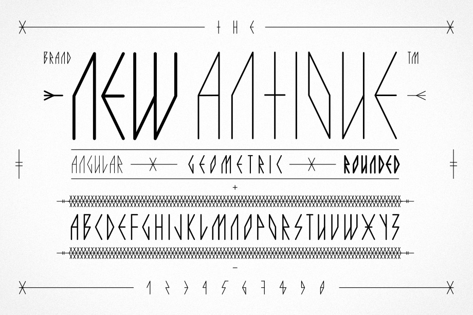— The New Antique Alphabet
