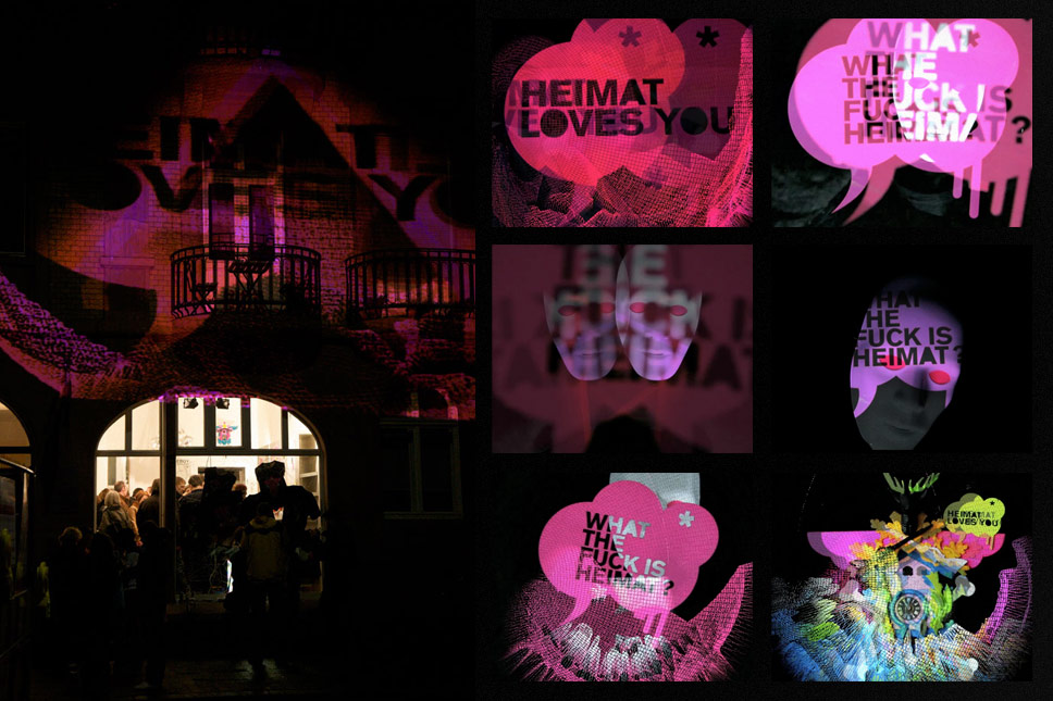 — 'What the fuck is Heimat?' live visuals, Mannheim Museumsnacht