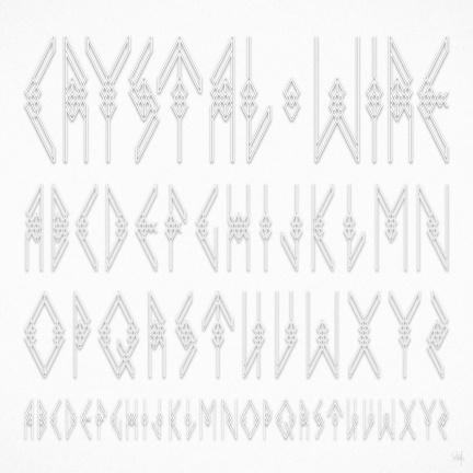 — The Crystal Wire Alphabet by Studio Volito